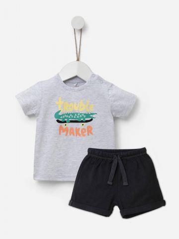 סט מכנסיים וחולצת טי שירט / 3M-5Y של SHILAV