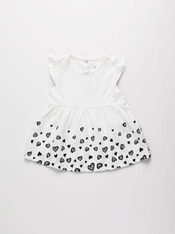 שמלה מתרחבת עם הדפס לבבות / 3M-3Y של FOX