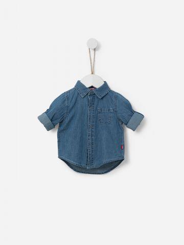 חולצת ג'ינס מכופתרת / 3M-2Y של SHILAV