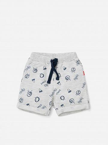 מכנסיים קצרים בהדפס וסיומת קיפול / 3M-3Y של SHILAV
