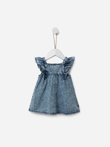 שמלת ג'ינס עם שרוולי מלמלה / 3M-3Y של SHILAV