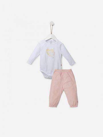 סט בגד גוף ומכנסיים ארוכים / 0M-18M של SHILAV