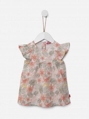 שמלה קצרה בהדפס פרחים / 3M-3Y של SHILAV