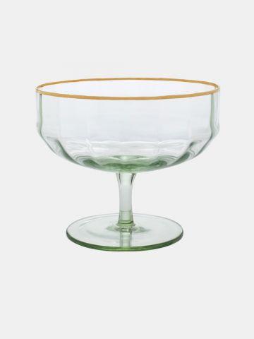 לפתניה מזכוכית עם שוליים מוזהבים של FOX HOME
