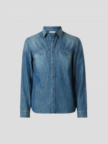 חולצת ג'ינס מכופתרת / גברים של ALL SAINTS
