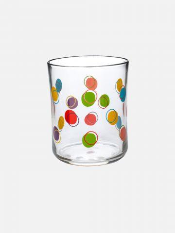 כוס זכוכית עם הדפס נקודות של FOX HOME