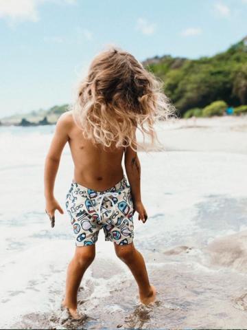 מכנסי בגד ים בהדפס אביזרים / בנים של EL CAPITAN