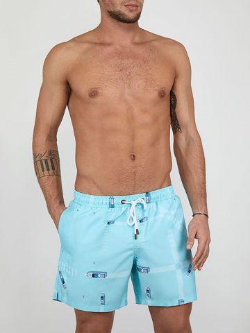 מכנסי בגד ים בהדפס סירות של EL CAPITAN