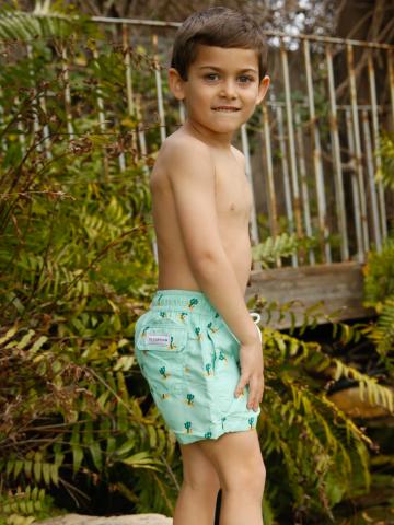 מכנסי בגד ים בהדפס קקטוסים / בנים של EL CAPITAN