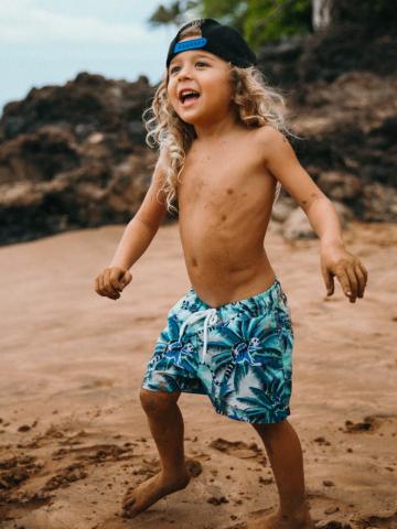 מכנסי בגד ים בהדפס דקלים / בנים של EL CAPITAN