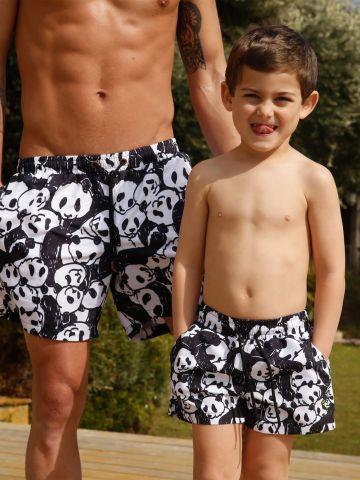 מכנסי בגד ים בהדפס פנדה / בנים של EL CAPITAN