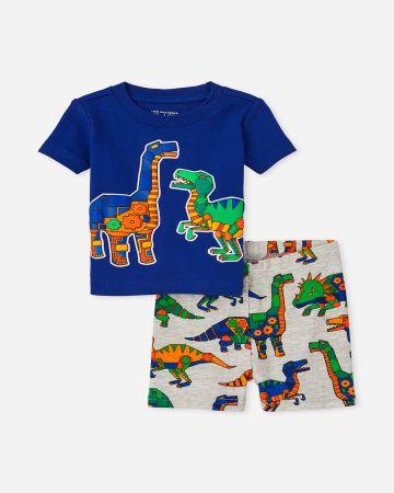 סט פיג'מה קצרה בהדפס דינוזאורים / 12M-4Y של THE CHILDREN'S PLACE