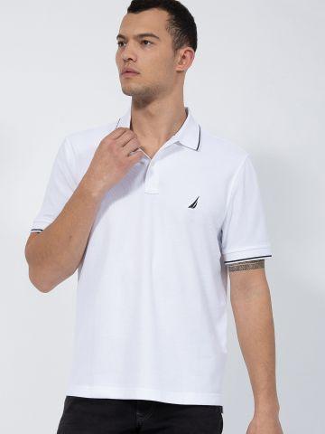 חולצת פולו עם רקמת לוגו של NAUTICA