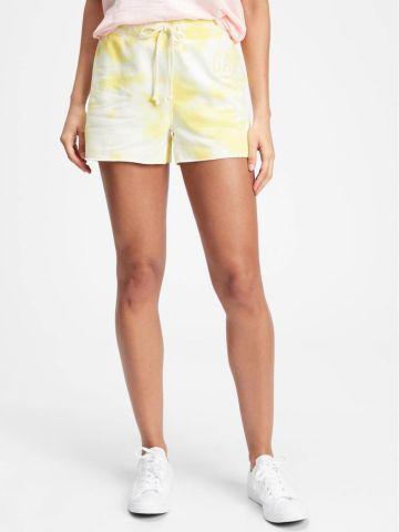 מכנסיים קצרים פליז בהדפס טאי דאי של GAP