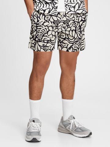 מכנסי בגד ים בהדפס עלים של GAP