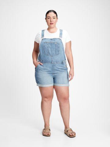 אוברול ג'ינס בסיומת קיפול של GAP