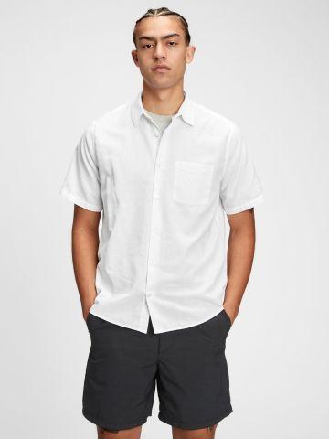 חולצה מכופתרת עם שרוולים קצרים / גברים של GAP