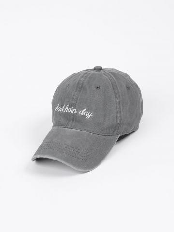 כובע מצחייה ג'ינס ווש של QUESTION MARK
