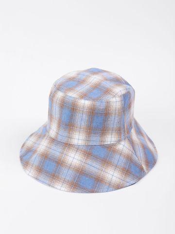 כובע באקט בהדפס משבצות / בנות של QUESTION MARK