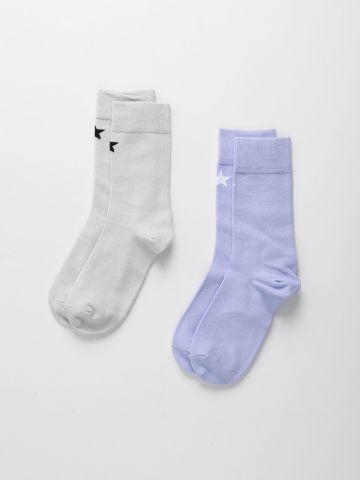 מארז 2 זוגות גרביים בצבעים שונים / נערות של QUESTION MARK