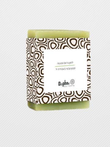 סבון טבעי עבודת יד למון גראס ומנטה Handmade Natural Soap Lemongrass and Mint של DAPHNE