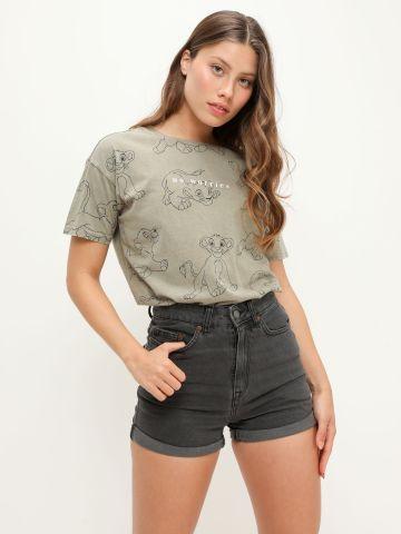 ג'ינס קצר בסיומת קיפול של ROXY
