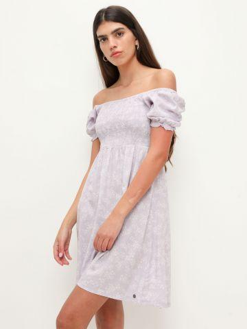 שמלת כיווצים בהדפס פרחים של ROXY