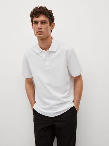 חולצת פולו חלקה של MANGO