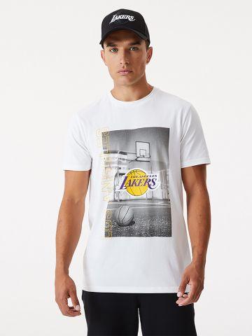 טי שירט עם הדפס Los Angeles Lakers של NEW ERA
