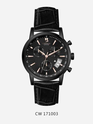 שעון יד עם רצועת עור מעוצב Cavallo / גברים של CAVALLO