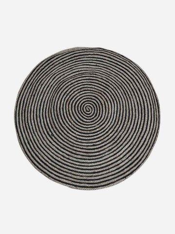 שטיח עגול קולור בלוק בטקסטורת קליעה של FLORALIS