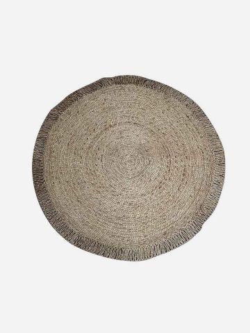 שטיח עגול בטקסטורת קליעה / 120X120 של FLORALIS