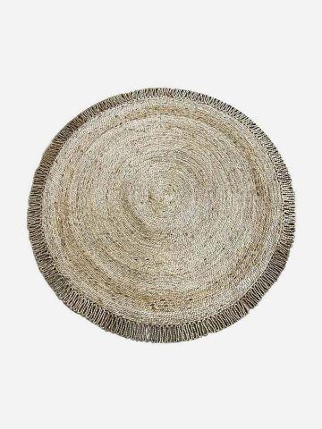 שטיח עגול בטקסטורת קליעה / 150X150 של FLORALIS