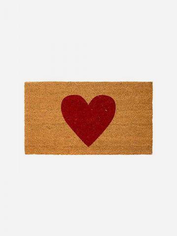 שטיח סף עם הדפס לב של FLORALIS