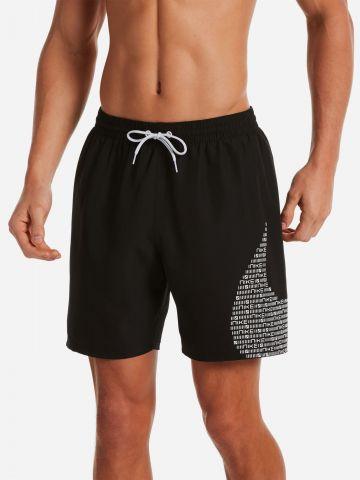 מכנסי בגד ים עם הדפס לוגו של NIKE