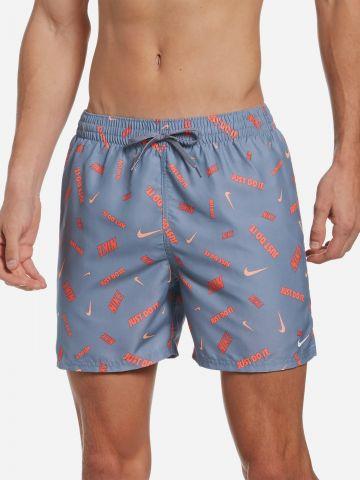 מכנסי בגד ים בהדפס לוגו של NIKE