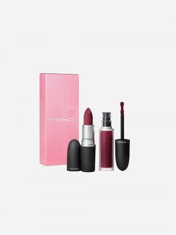 קיט שפתיים פאודר קייס Powder Kiss Lip Kit: Like Mother של MAC