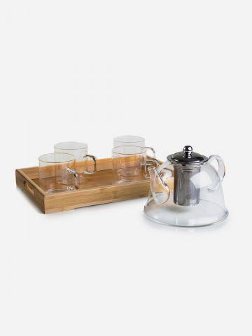 סט קומקום וכוסות זכוכית 1500 מ״ל של ARCOSTEEL