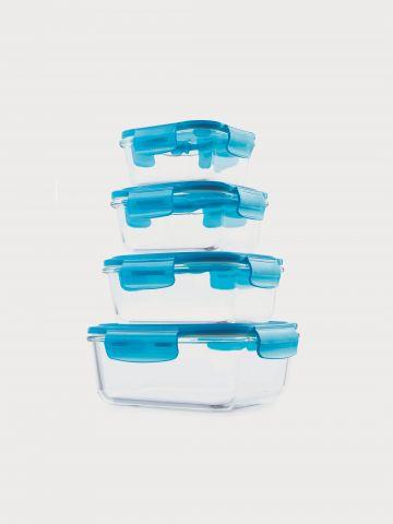 מארז 4 קופסאות זכוכית למזון בגדלים שונים של ARCOSTEEL