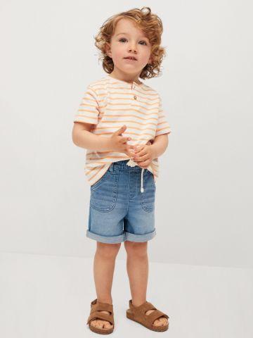 מכנסיים קצרים בסגנון ג'ינס קפלים בסיומת של MANGO