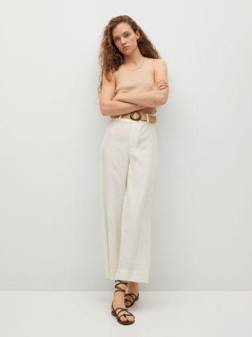 מכנסיים בשילוב חגורה קלועה של MANGO
