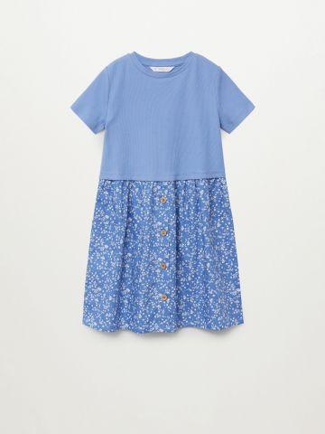 שמלת ריב עם הדפס בחלק התחתון / בנות של MANGO