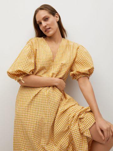 שמלת מידי עם שרוולים נפוחים של MANGO