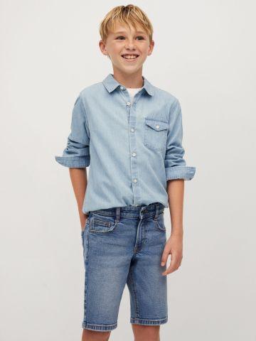 מכנסי ברמודה בסגנון ג'ינס Slim-fit של MANGO