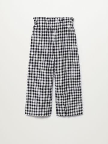 מכנסיים מתרחבים בהדפס משבצות / בנות של MANGO