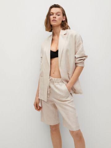 מכנסי פשתן קצרים מחוייטים של MANGO