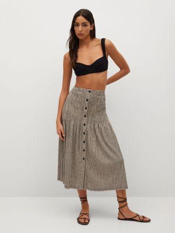 חצאית מידי בהדפס משצבות של MANGO