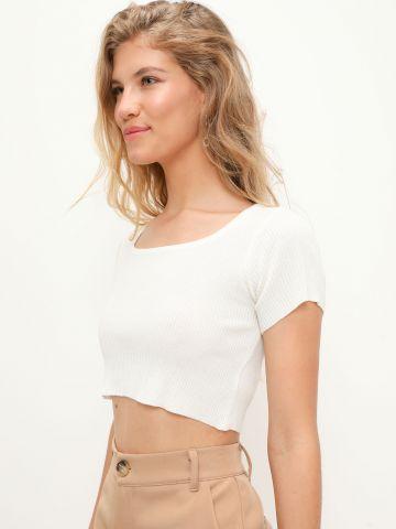 חולצת סריג ריב קרופ של TERMINAL X