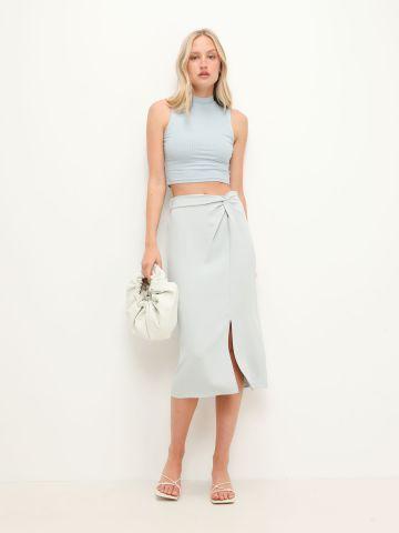 חצאית מידי טוויסט בחזית של TERMINAL X