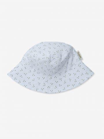 כובע קיץ פרחים בגזרת באקט / 0-24M של MINENE